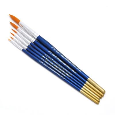 Round Golden Nylon Brush Set (6)