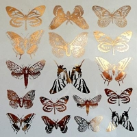 Decal - Butterflies - Gold - Click for more info