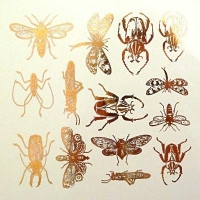 Decal - Insects - Gold - Click for more info