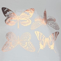 Decal - Large Butterflies - Gold - Click for more info
