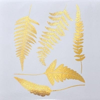 Decal - Ferns - Gold - Click for more info