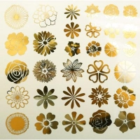 Decal - Flowers - Black - Click for more info