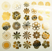 Decal - Flowers - Gold - Click for more info