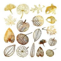 Decal - Leaves - Gold - Click for more info