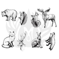 Woodland Animals Silkscreen - Click for more info