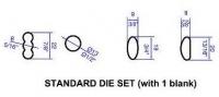 Venco Extruder Dies 75mm Standard Set of 4 - Click for more info