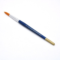 Size 10 Round Golden Nylon Brush - Click for more info