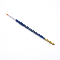 Size 2 Round Golden Nylon Brush - Click for more info
