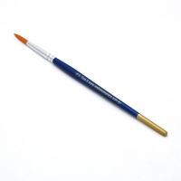 Size 6 Round Golden Nylon Brush - Click for more info