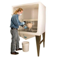 Pro V Free Standing Spray Booth - Click for more info