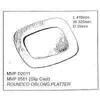 Rounded Oblong Platter Drape - Click for more info