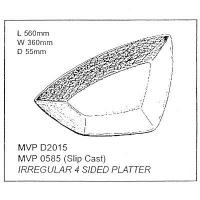 Irregular 4 Sided Platter Drape - Click for more info