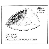 Rounded Triangular Dish Slump - Click for more info